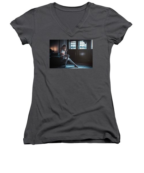 Women's V-Neck T-Shirt (Junior Cut) featuring the photograph ... by Traven Milovich