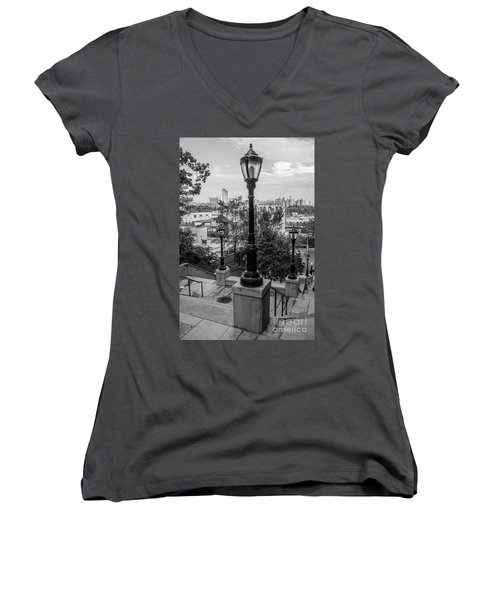 215th Street Stairs  Women's V-Neck
