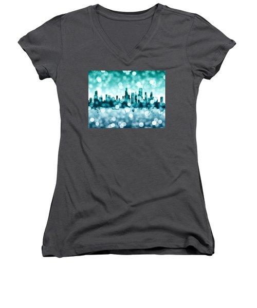 Chicago Illinois Skyline Women's V-Neck T-Shirt