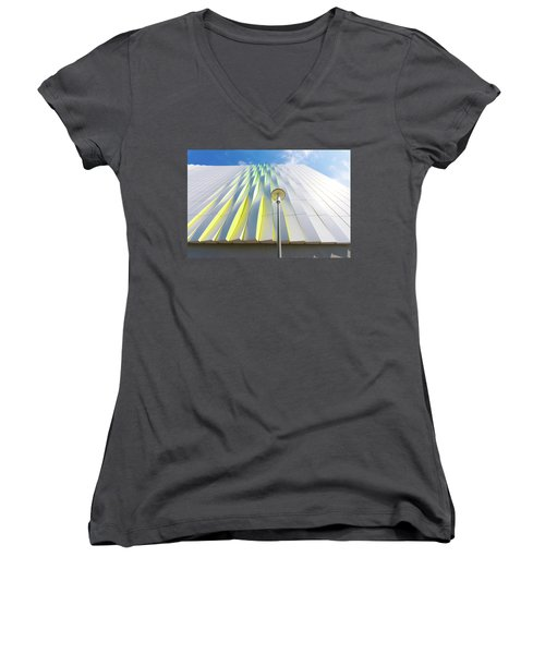 Modern Architecture Women's V-Neck T-Shirt (Junior Cut) by Hans Engbers