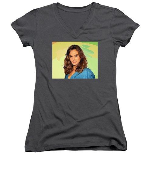 Gal Gadot Art Women's V-Neck T-Shirt