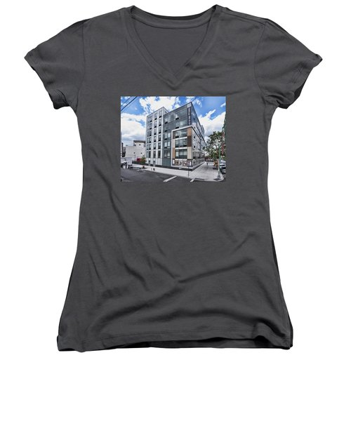 250n10 #4 Women's V-Neck T-Shirt (Junior Cut) by Steve Sahm