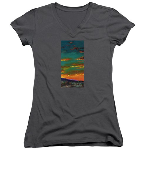 2nd In A Triptych Women's V-Neck T-Shirt (Junior Cut) by Frances Marino