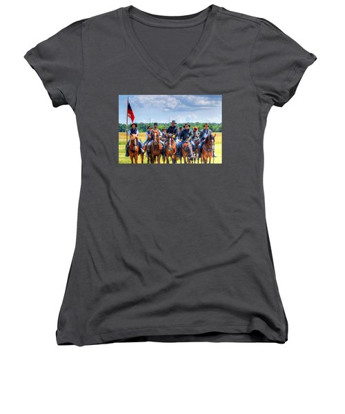 2nd Us Cavalry  Women's V-Neck