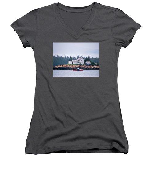 Acadia National Park  Women's V-Neck T-Shirt (Junior Cut) by Trace Kittrell