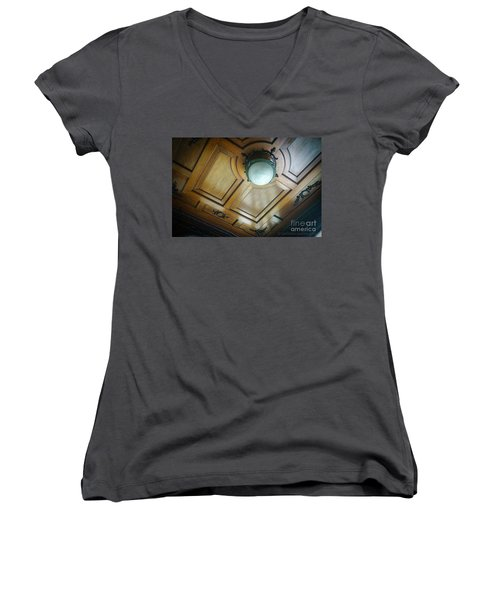 Women's V-Neck T-Shirt featuring the photograph Apartment In The Heart Of Cadiz by Pablo Avanzini