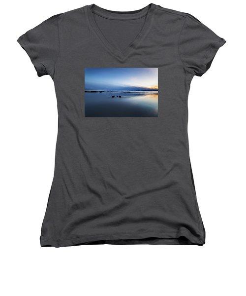 Arctic Sunset Women's V-Neck T-Shirt