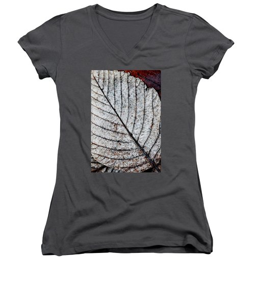 Beautiful Winter Leaf Women's V-Neck T-Shirt