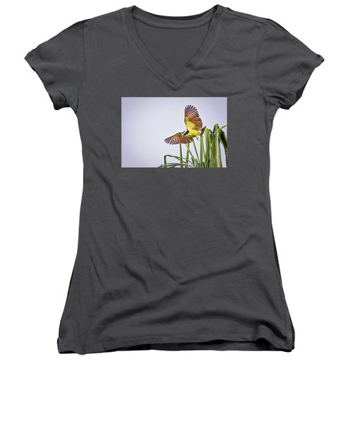 Great Crested Flycatcher Women's V-Neck