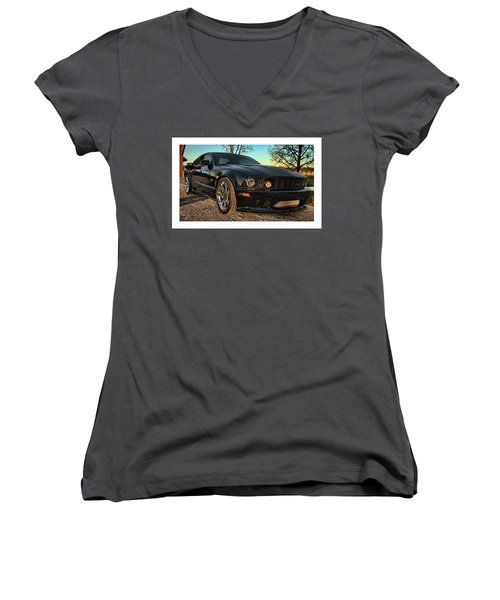 3 Women's V-Neck T-Shirt (Junior Cut) by John Crothers