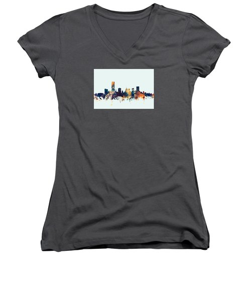 Oklahoma City Skyline Women's V-Neck