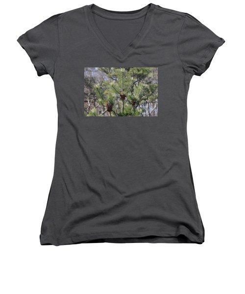 Women's V-Neck T-Shirt (Junior Cut) featuring the photograph 3 by Paul SEQUENCE Ferguson             sequence dot net