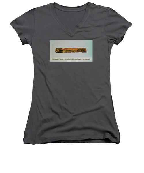 Series Abstract Worlds Only Originals For Sale Worldwide Shipping Women's V-Neck (Athletic Fit)