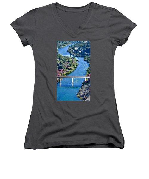 Shasta Dam Spillway Women's V-Neck