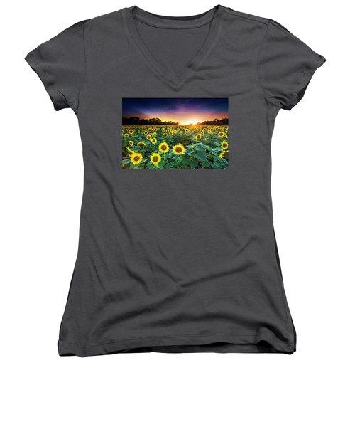 3 Suns Women's V-Neck T-Shirt
