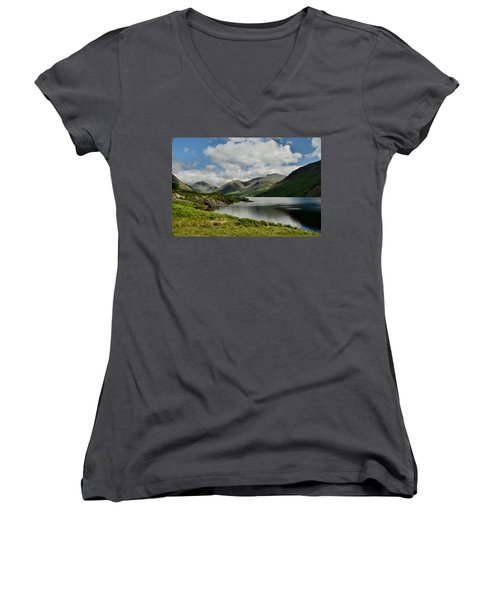 Wastwater Lake District Women's V-Neck (Athletic Fit)