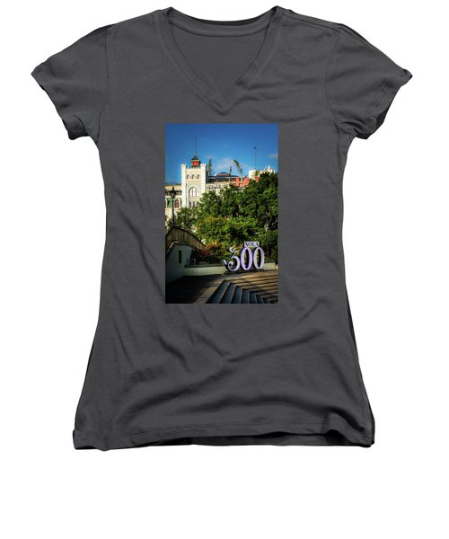 300 Years Of New Orleans Women's V-Neck (Athletic Fit)