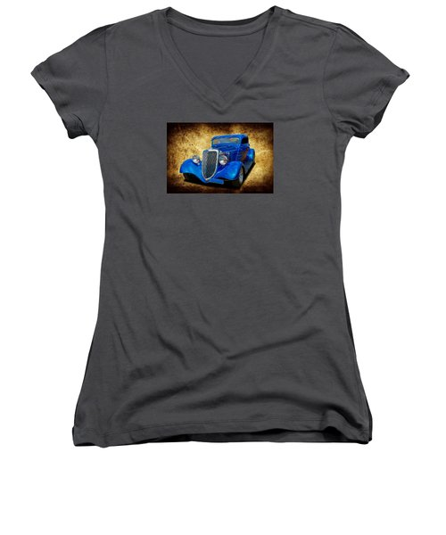 Women's V-Neck T-Shirt (Junior Cut) featuring the photograph 34 Coupe by Keith Hawley