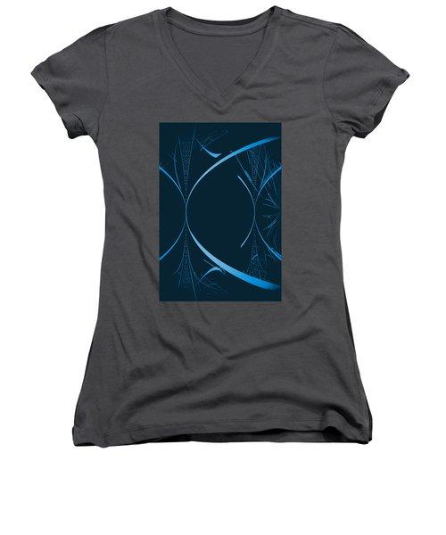 35 In Blue Women's V-Neck T-Shirt (Junior Cut) by John Krakora