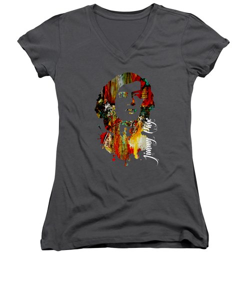 Jimmy Page Collection Women's V-Neck T-Shirt