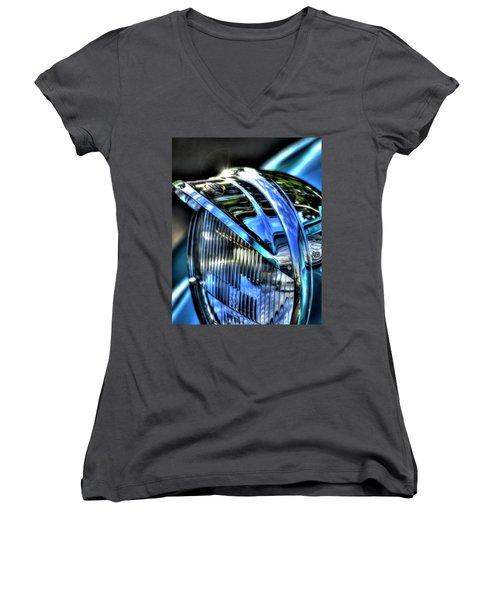 38 Ford Headlamp Women's V-Neck T-Shirt