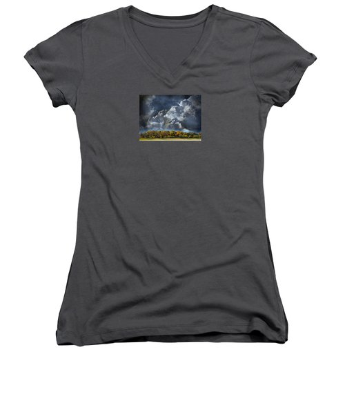 3985 Women's V-Neck T-Shirt (Junior Cut) by Peter Holme III