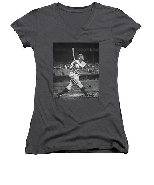 Babe Ruth  Women's V-Neck T-Shirt