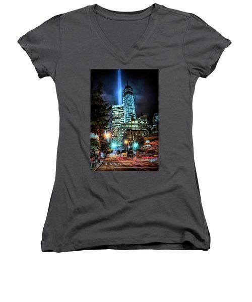 Freedom Tower Women's V-Neck