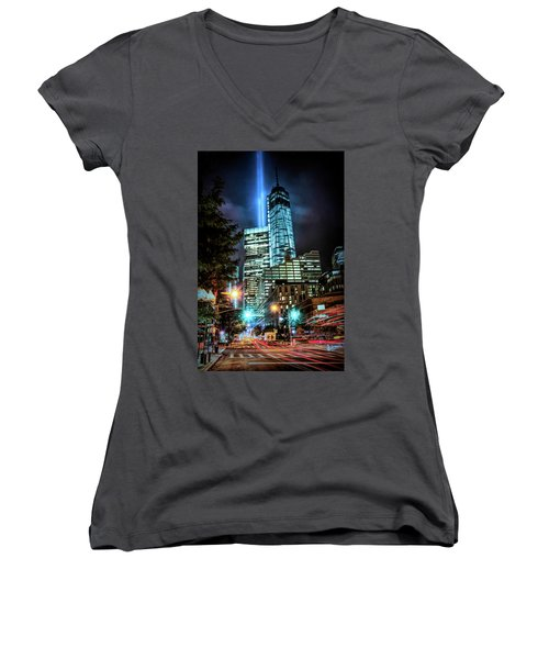Freedom Tower Women's V-Neck