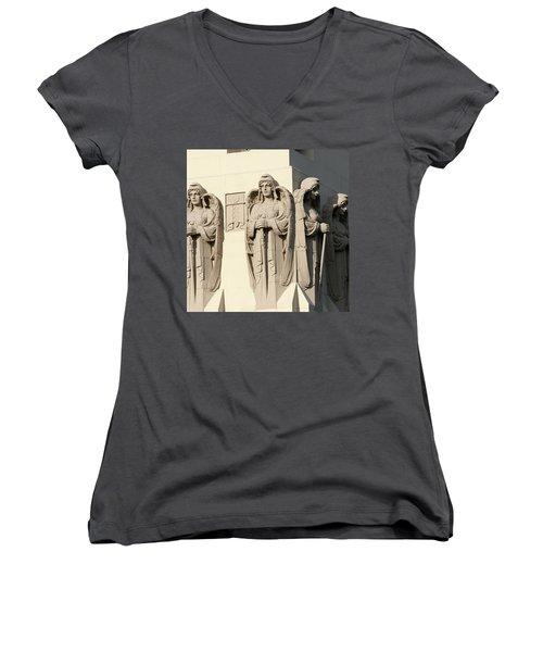 4 Guardian Angels Women's V-Neck