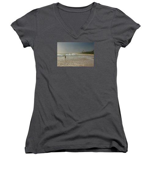 Long Beach Kogalla Women's V-Neck T-Shirt (Junior Cut) by Christian Zesewitz