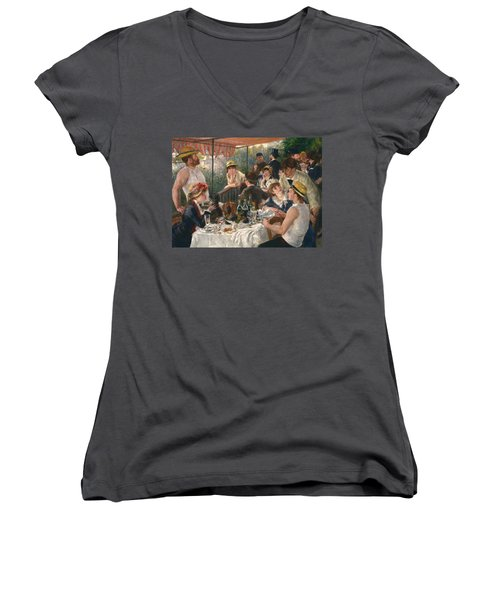 Luncheon Of The Boating Party Women's V-Neck (Athletic Fit)