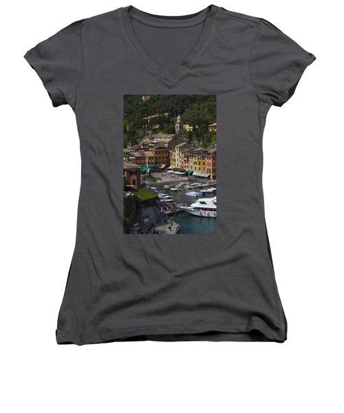 Portofino In The Italian Riviera In Liguria Italy Women's V-Neck T-Shirt