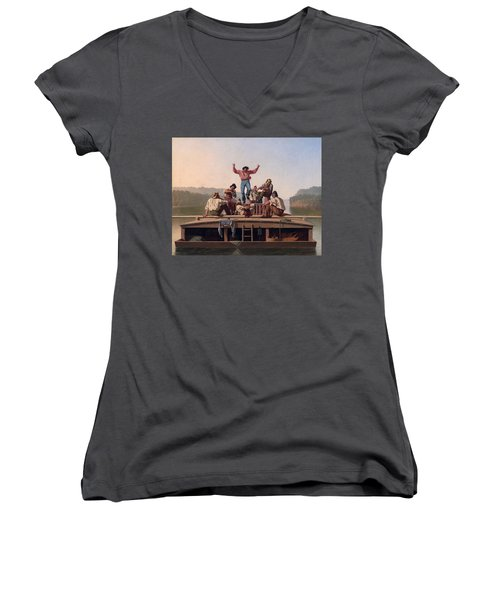 The Jolly Flatboatmen Women's V-Neck