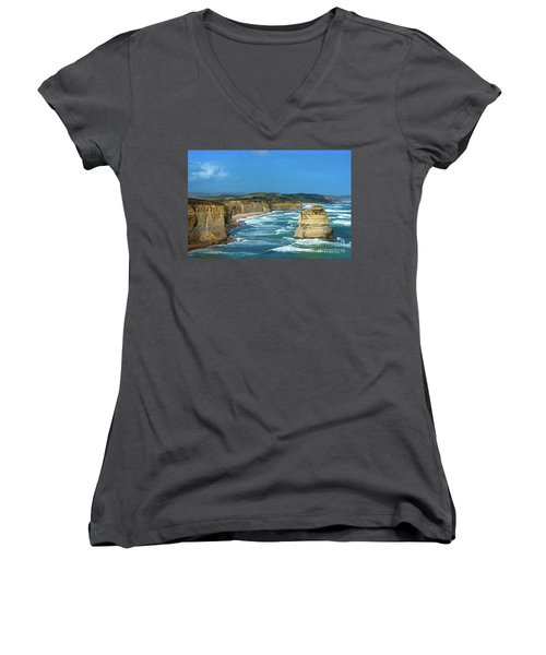 The Twelve Apostles Women's V-Neck (Athletic Fit)