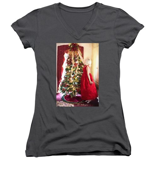 Vintage Val Home For The Holidays Women's V-Neck
