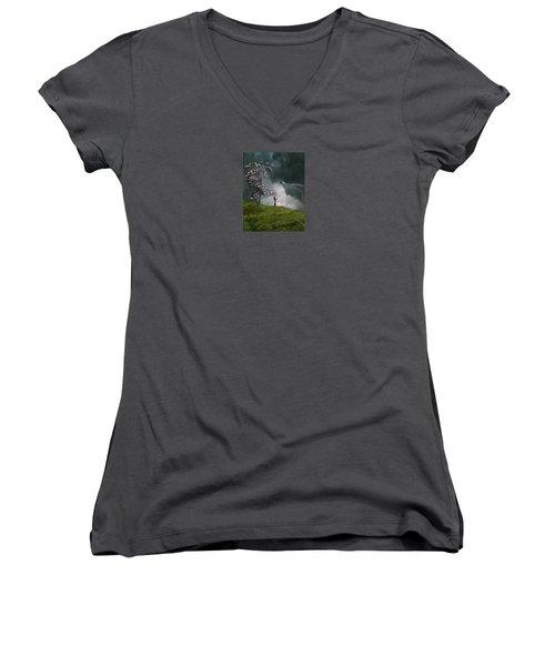 4166 Women's V-Neck T-Shirt (Junior Cut) by Peter Holme III