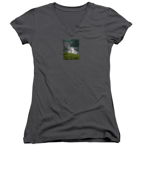 4166 Women's V-Neck T-Shirt