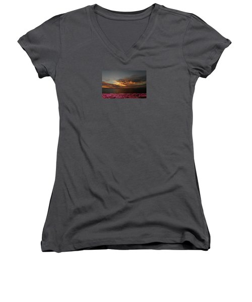 Women's V-Neck T-Shirt (Junior Cut) featuring the photograph 4380 by Peter Holme III