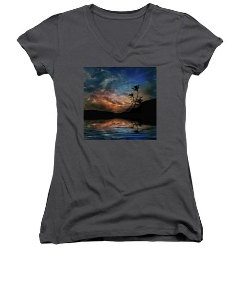 Women's V-Neck T-Shirt featuring the photograph 4448 by Peter Holme III