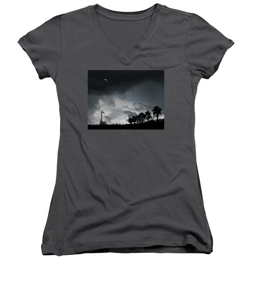 Women's V-Neck T-Shirt featuring the photograph 4458 by Peter Holme III