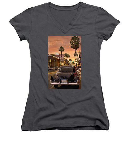 Women's V-Neck T-Shirt (Junior Cut) featuring the photograph 48 Cadi by Steven Sparks
