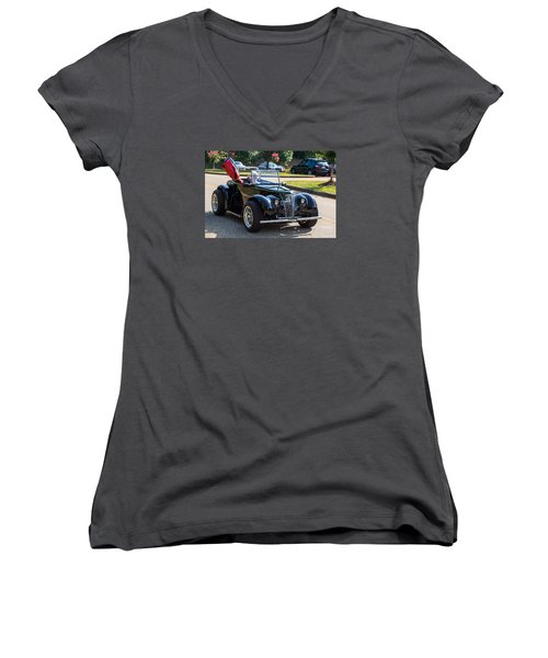 Hall County Sheriffs Office Show And Shine Car Show Women's V-Neck T-Shirt (Junior Cut) by Michael Sussman