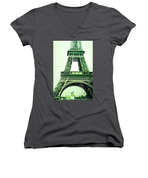 Ponte D'lena Sculpture Women's V-Neck T-Shirt (Junior Cut)