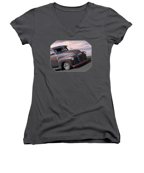 51 Chevy Women's V-Neck (Athletic Fit)