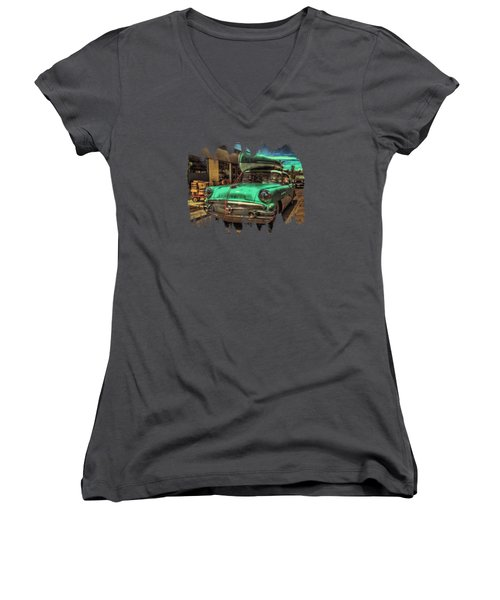 57 Buick - Just Coolin' It Women's V-Neck