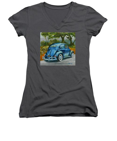 57 Vee Dub Women's V-Neck T-Shirt (Junior Cut) by William Reed