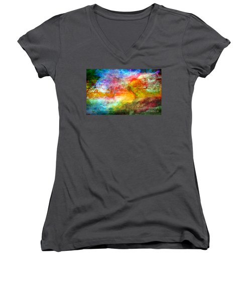 5a Abstract Expressionism Digital Painting Women's V-Neck