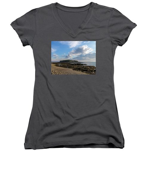Women's V-Neck T-Shirt (Junior Cut) featuring the photograph Acadia National Park by Trace Kittrell