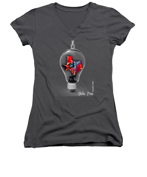 Dallas Texas Map Collection Women's V-Neck (Athletic Fit)